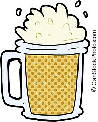 cartoon pint of ale