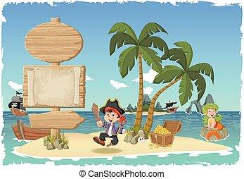 cartoon pirate boy.