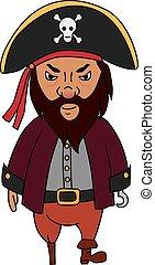 Cartoon pirate character