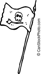 cartoon pirate flag