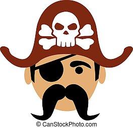 Cartoon pirate head