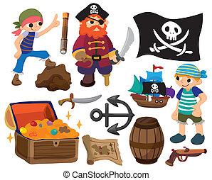 cartoon pirate icon