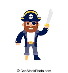 Cartoon pirate illustration