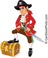 Cartoon pirate - Illustration of cartoon pirate
