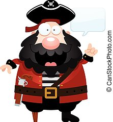 Cartoon Pirate Talking