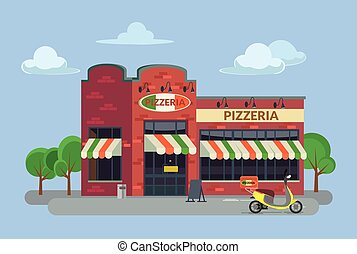 Cartoon pizzeria