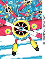 Cartoon Plane Pattern