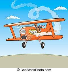 Cartoon plane vector illustration