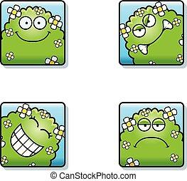 Cartoon Plant Monster Icons