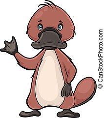 Cartoon platypus - Cute platypus character in vector format