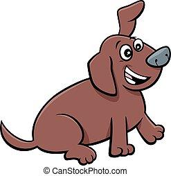 cartoon playful puppy comic animal character