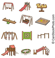 cartoon playground icon  - cartoon playground icon