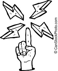 cartoon pointing finger