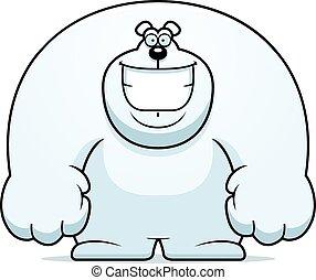 Cartoon Polar Bear Smiling