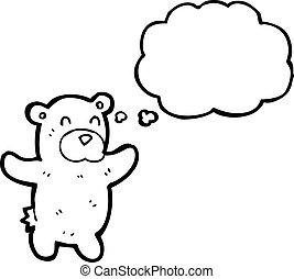 cartoon polar bear teddy
