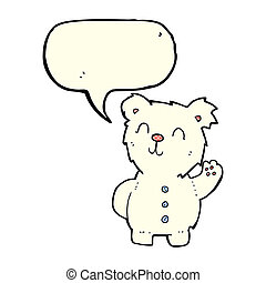 cartoon polar bear with speech bubble