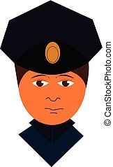 Cartoon police officer vector illustration on a white background