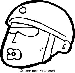 cartoon policeman head