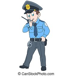 Cartoon policeman officer - Cartoon police officer,...