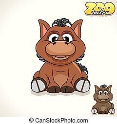 Cartoon Pony. Vector Character