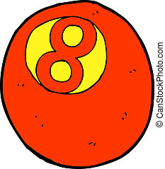 cartoon pool ball