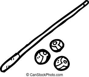 Pool Sticks Clip Art