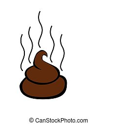 Cartoon graphic of poop.