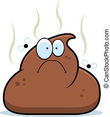 Cartoon Poop - A cartoon pile of brown poop with flies.
