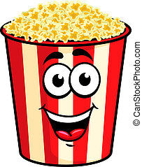 Cartoon popcorn character