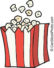 cartoon popcorn