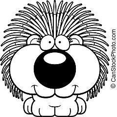Cartoon Porcupine Smiling