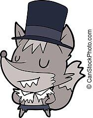 cartoon posh halloween werewolf