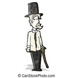 cartoon posh tramp
