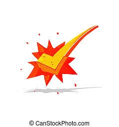 cartoon positive tick symbol