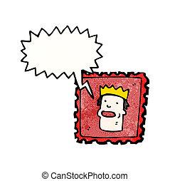 cartoon postal stamp