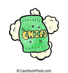 cartoon potato chips