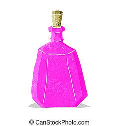 cartoon potion bottle