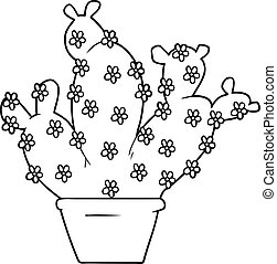 cartoon potted cactus