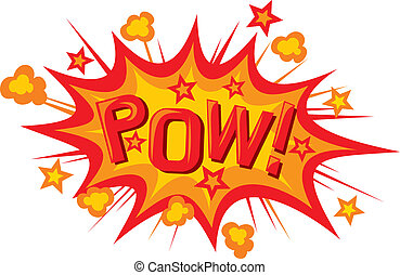 cartoon - pow (pow comic book illustration)