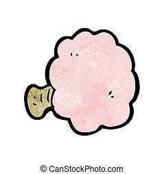 cartoon powder puff