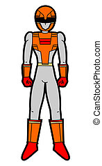 Cartoon power man