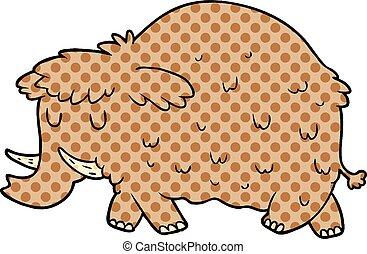 cartoon prehistoric mammoth