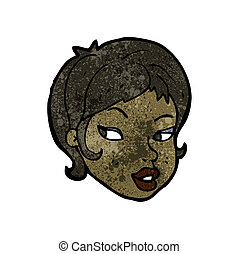 cartoon pretty female face