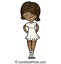 cartoon pretty girl