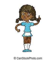 cartoon pretty maid woman
