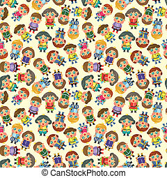 cartoon Prince seamless pattern