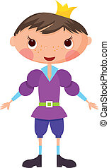 Cartoon prince. EPS10. Contains transparent objects used for...