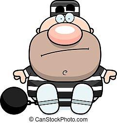 Cartoon Prisoner Sitting