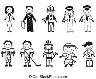 Cartoon professions icons - Professions icons set....