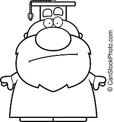Cartoon Professor Bored